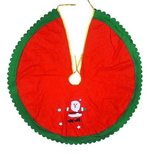 (MCpinky Christmas Tree Skirt Red 36 Inch Green Christmas Tree Ornaments Party Home Tree Xmas Decoration with Santa)