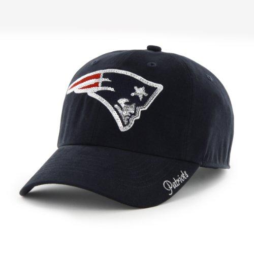 NFL New England Patriots Women's '47 Brand Sparkle Team Color Clean Up Adjustable Hat, -