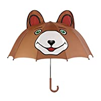 Kidorable Brown Bear Umbrella With Fun Pop-Out Ears, Big Smile