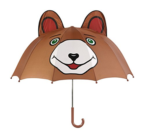 Kidorable Boys' Bear Umbrella, Brown, One Size