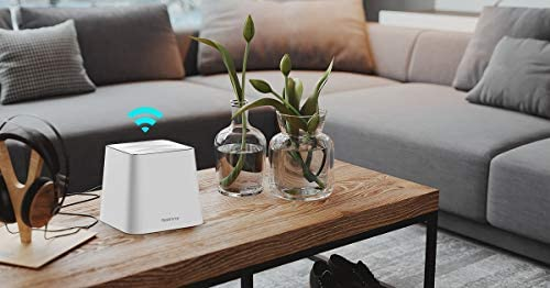 Meshforce Whole Home Mesh WiFi System M3s Suite (Set of three) – Gigabit Dual Band Wireless Mesh Router Replacement - High Performance WiFi Coverage 6+ Bedrooms