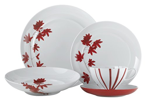 Mikasa Pure Red 20 Piece Dinnerware Set (Set of 4), Assorted
