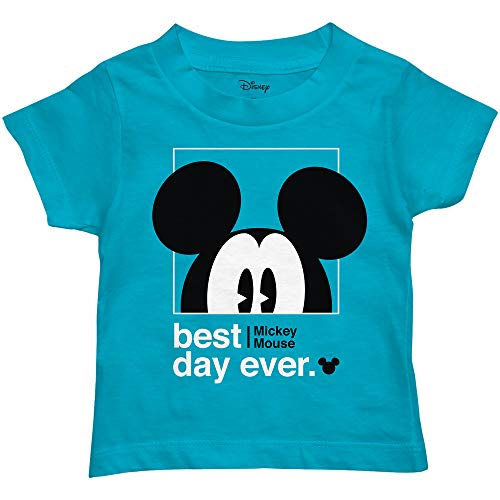 Disney Mickey Mouse Best Day Ever Toddler Youth Juvy Kids T-Shirt (3T, Turquoise)]()