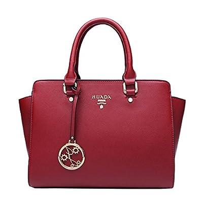 Missmay Women's Genuine Leather Purse Shoulder Bag Crossbody Fit Ipad Handbag Solid Satchel Casual