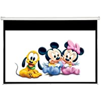 Maxstar 80in Screens Manual Pull Down Projection Screen, 16:9 Aspect Ratio-(Matte White)