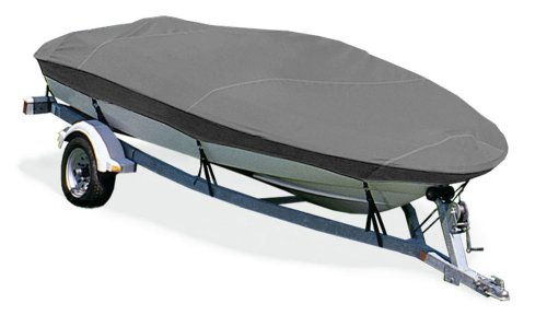 Trailerite Semi-Custom Boat Cover for V-Hull Fishing Boats with Outboard Motor (15'10