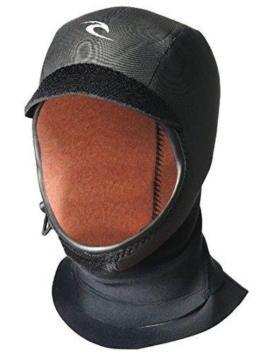 (Rip Curl Flash Bomb 3mm Gb Hood, Black/Black, X-Large)