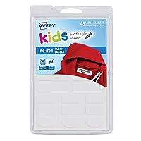 Avery No-Iron Kids Clothing Labels, Washer & Dryer Safe, Writable Fabric Labe...