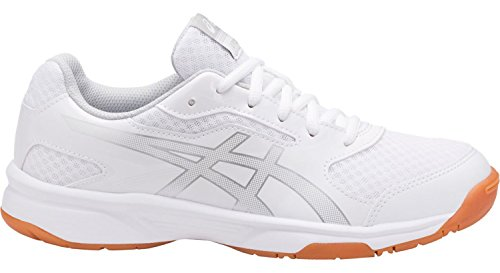 Silver Mens Volleyball (ASICS B705Y Men's Upcourt 2 Running Shoes, White/Silver - 10 D (M) US)