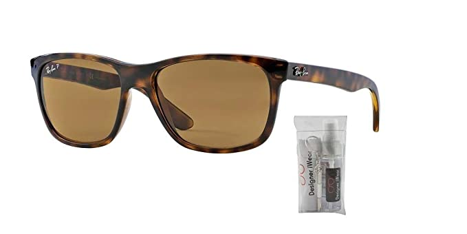 85930e44a4 Amazon.com  Ray-Ban RB4181 710 51 57M Light Havana Brown Crystal Gradient  Sunglasses For Men For Women  Clothing