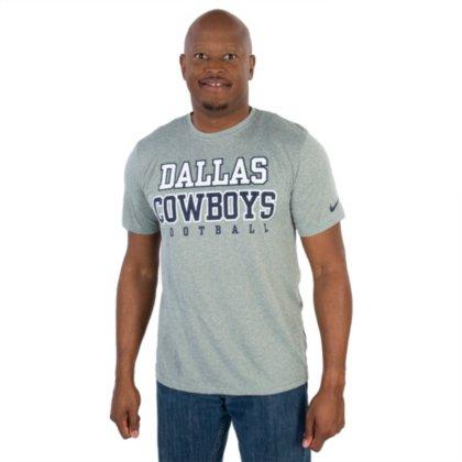 - Dallas Cowboys NFL Mens Nike Dri-Fit Legend Practice T-Shirt, Heather Gray, 3XL