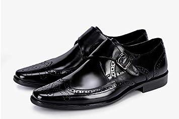 LOVDRAM Zapatos De Cuero para Hombre Moda Italiana Hombre ...