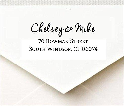 Custom Return Address Self Inking Rubber Stamp with designer font for Wedding Traxx 9013 - Wedding Address Stamps