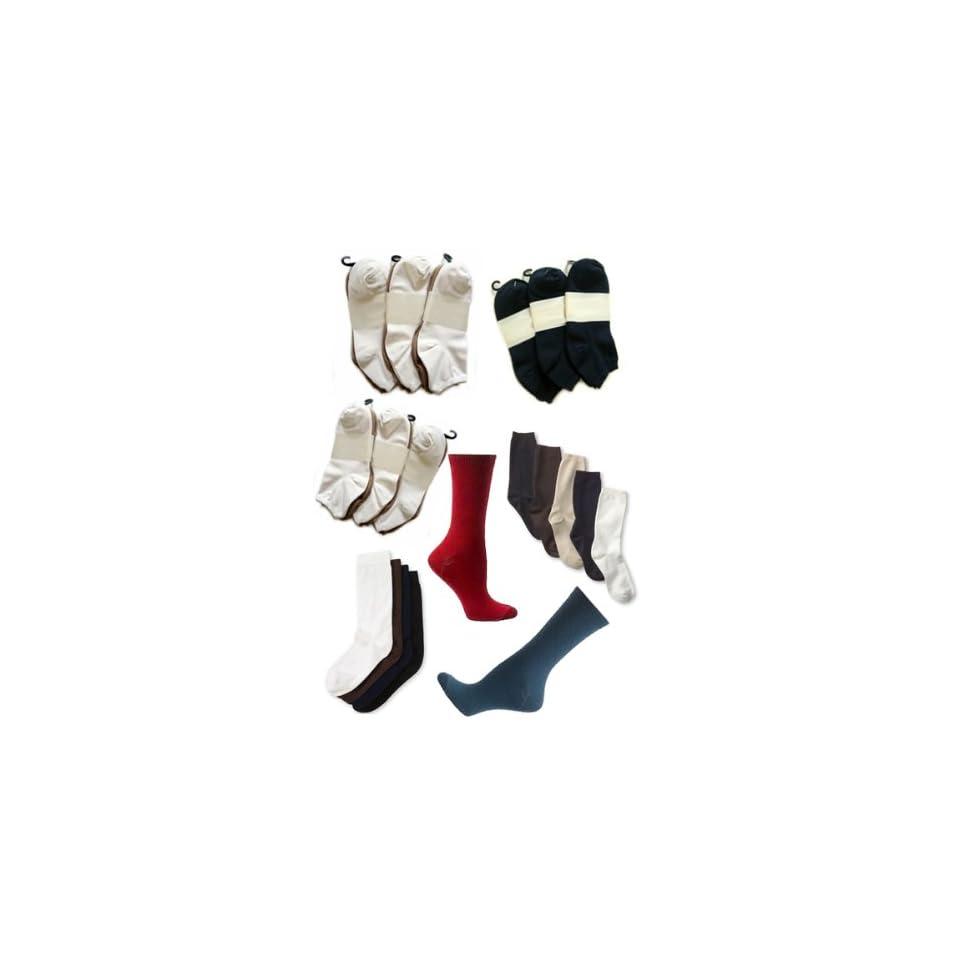 Wholesale Pack   15 Pairs of Assorted Womens Microfiber Socks
