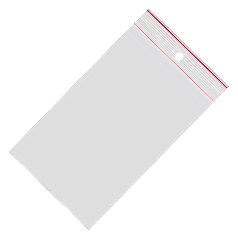 50 my 100 sacchetti trasparenti con chiusura a pressione 70 x 100 mm