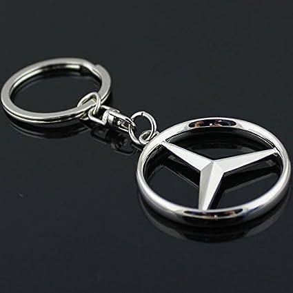 para Mercedes Benz 3d logotipo llavero inoxidable cromado ...