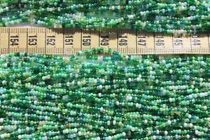 10/0 Spring Green Mix Czech Glass Seed Beads Crafts Beads Jewelry Making/Hank Spacer Beads and Roll Crystal String for Bracelets Jewelry Making