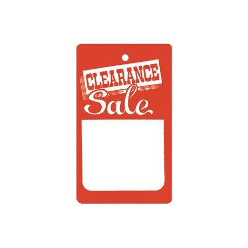 NAHANCO 510S Strung Clearance Tags 1000/Carton (Pack of 1000) by NAHANCO