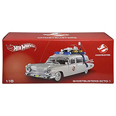 Hot Wheels Collector Ghostbusters Ecto-1 Die-cast Vehicle (1:18 Scale): Toys & Games