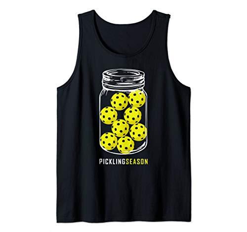 (Pickling Season Shirt, Funny Pickleball Jar Retirement Gift Tank Top)
