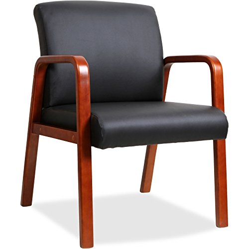 Lorell Guest Chair, Black/Cherry, 24 by 25-5/8 by 33-1/4-Inch