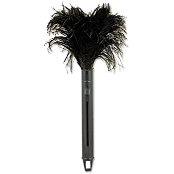 Amazon Com Unisan Retractable Feather Duster Black
