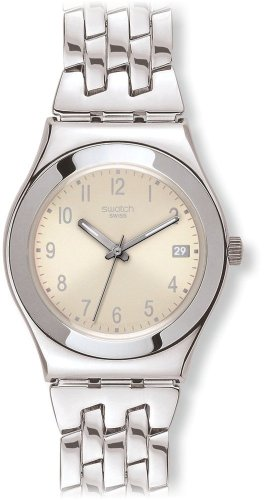 Swatch Women's YLS441G Stainless Steel Analog with Cream Dial Watch
