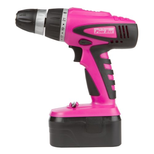 The Original Pink Box PB18VNIC Pink 18V Cordless NiCad Drill with Battery, Charger, Bits, and Storage Case by The Original Pink Box (Image #1)