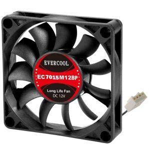 (Evercool 70 x 70 x 15mm Ball Bearing Fan (3 Wires, 3-Pin Connector))