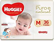 Fralda Huggies Natural Care M, 36 Fraldas, Huggies