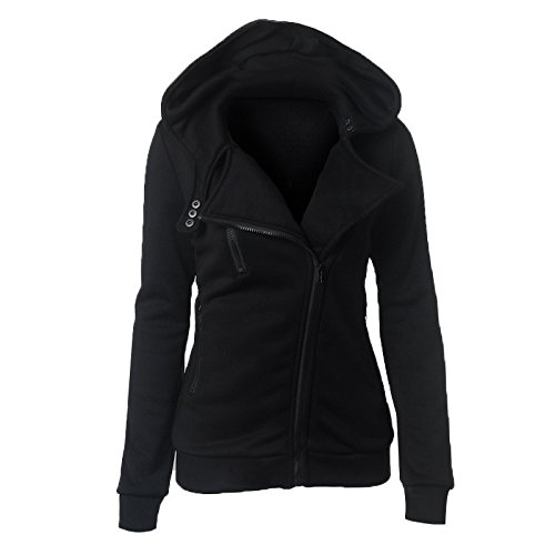 Size Long Hat DYF XXXL FYM Solid COAT Black Sleeve Zipper Big Coat Color Women Pocket zq08qw