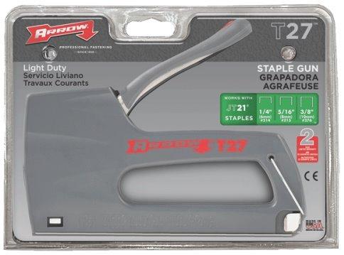Arrow Fastener T27 Light Duty Household Staple Gun Tacker