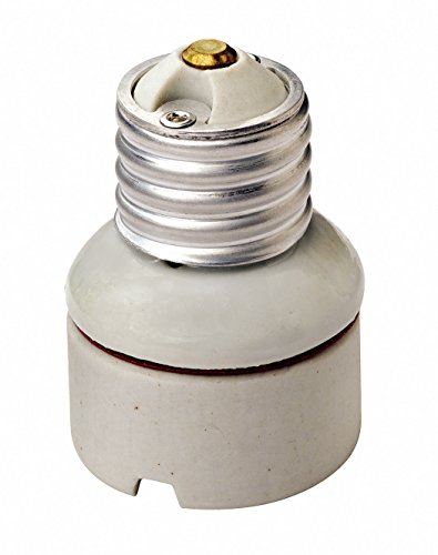 Socket Extensions Leviton (Leviton 2004 Medium-Medium Base Two-Piece Glazed Porcelain Lampholder, 1-1/4-Inch, White)