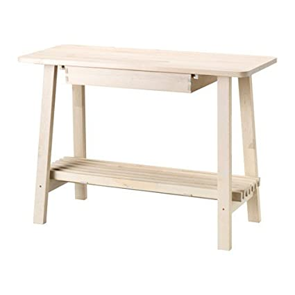 Ikea norraker Aparador de madera de abedul; (120 x 50 cm)