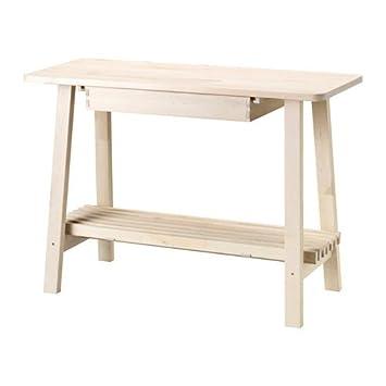 IKEA NORRAKER Sideboard aus Birkenholz; (120x50cm): Amazon.de: Küche ...