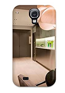 Fashionable FnmfIro16811boSgL Galaxy S4 Case Cover For Modern Stainless Steel Kitchen With Recessed Lighting Amp Tile Floor Protective Case