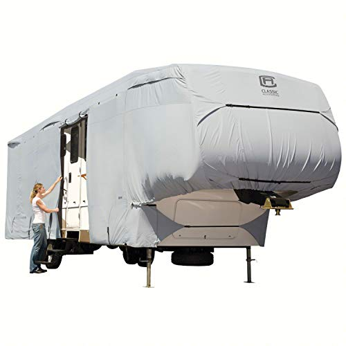 Classic Accessories OverDrive PermaPRO Deluxe Extra Tall 5th Wheel Cover, Fits 37' - 41' RVs - Lightweight Ripstop and Water Repellent RV Cover (80-187-191001-00)