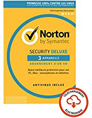 Norton Security Deluxe 2019 | 3 Appareils  | 1 an | PC/Mac/iOS/Android | Téléchargement