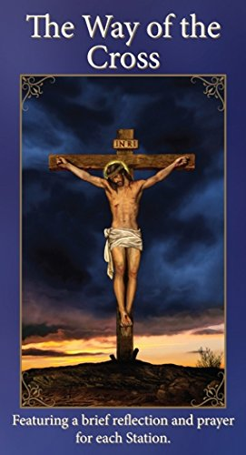 Christian Brands Catholic The Way of the Cross Holy Card Pamplet with Reflections and Prayers, Pack of 25 (Stations Of The Cross Prayers And Reflections)