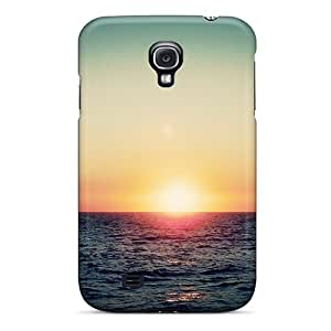 Top Quality Protection Sea Waves Sunset Case Cover For Galaxy S4