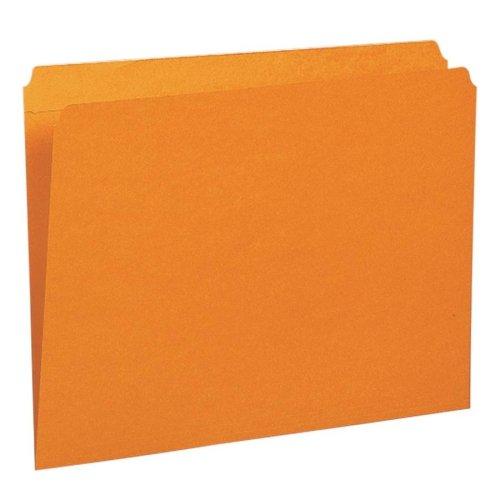 2 Pli Tab (Wholesale CASE of 5 - Smead Assorted 2-Ply Tabs Straight Cut Folders-File Folder, Straight Tab Cut, Letter, 100/BX, Orange)