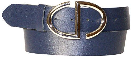 Marine Cintura Con Articolo 17880 Argento Blu In Elegante Cm Pelle Donna Conveniente Fibbia Alta Fronhofer 4 Da Vera 5wFTqq