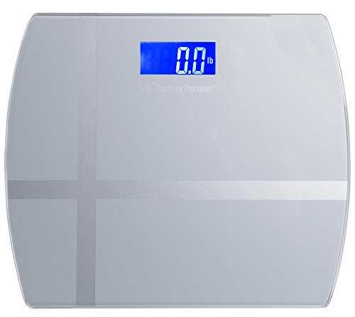 AccuPoint Precision Digital Body Step-On Weight Scale - 400lbs - 12 x12 lb kg