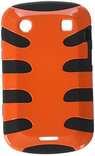 MyBat BB9930HPCSK038NP Fishbone Protective Case for BlackBerry Bold 9930-1 Pack - Retail Packaging - Carrot Orange/Black -