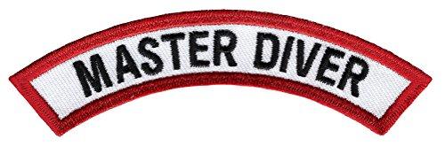 Master Diver Chevron Patch Embroidered Iron On Divemaster Scuba Diving Emblem Souvenir