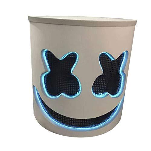 MZS Tec DJ Mask, dj Marshmello Mask Led dj Mask Christmas Halloween Party Props EVA Bar Mask