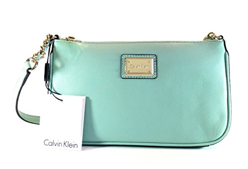 Calvin Klein H5AHA2QM Mint Green Pebbled Leather Hudson Demi Shoulder Bag