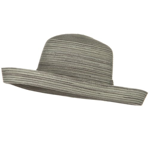 Hat E4hats Metallic - Jeanne Simmons Metallic Blend Kettle Edge Brim Hat - Silver OSFM