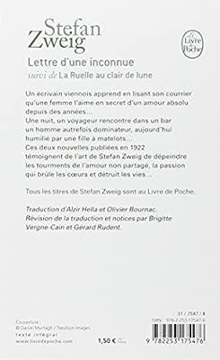 Lettre Dune Inconnue Littérature Amazones Stefan Zweig