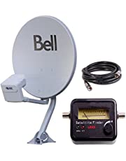"20 "" BELL TV SATELLITE DISH 500 KIT- QUAD Output DPP LNB With Satellite Finder"